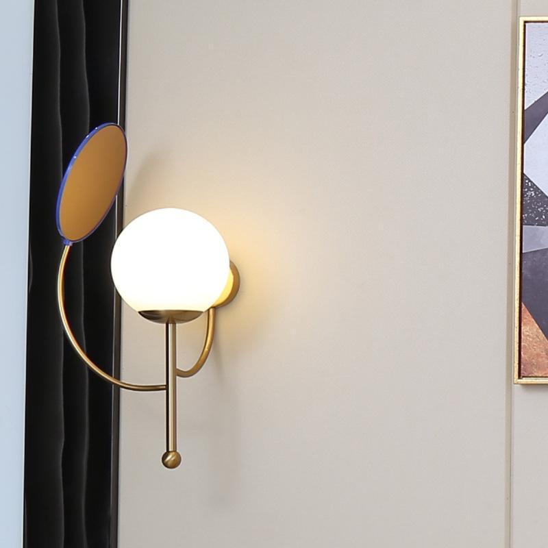 الجدار مصباح الديكور الشمال المنزل كريستال نوم ضوء زجاج الكرة مرآة غرفة الطعام السرير