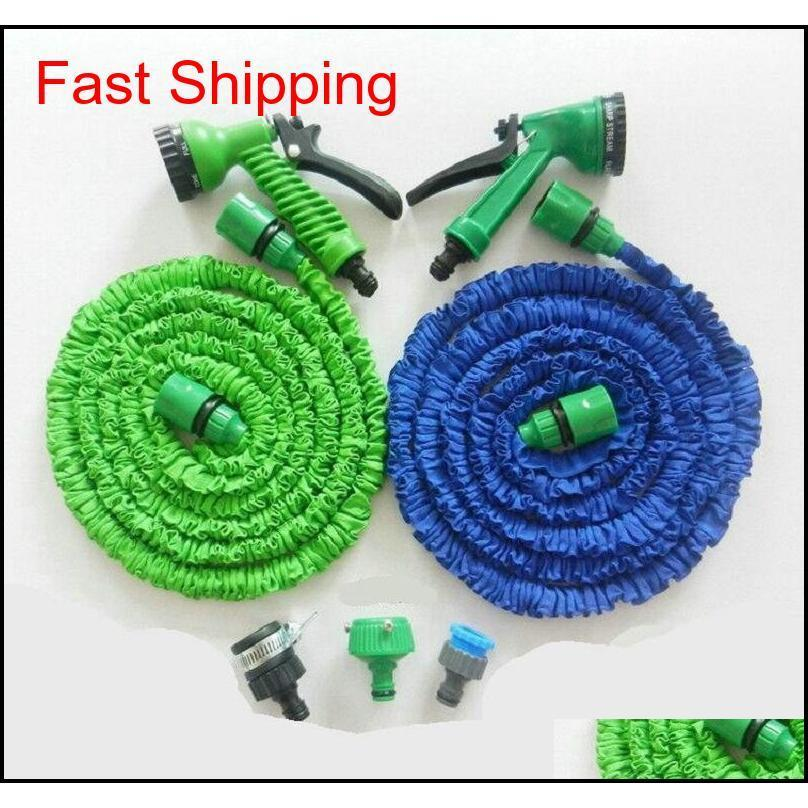 3x Expandable Magic Hose With 7in1 Spray Gun Nozzle 25ft/50ft/75ft/100ft Irrigation System Garden Hose Water qylVhk packing2010