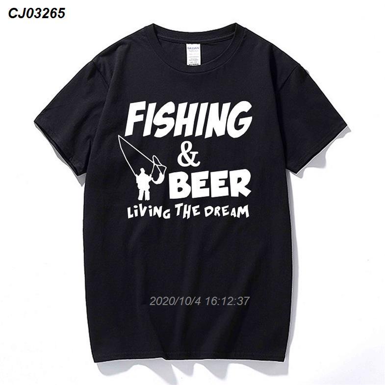 Moda Komik Tişört Fishinger Bira Balık Uçan Yaz Fikirler Tee Gömlek Marka Tişörtlü Hediye 1221410