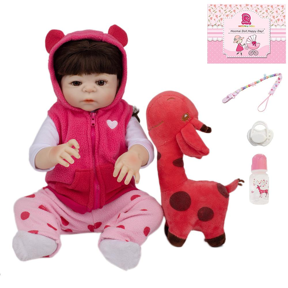 48cm silicone en silicone Vinyl reborn bébé poupée fille jouet réalistes vieilline princesse enfants bébé bébé vivant bonecas imperméable cadeau d'anniversaire