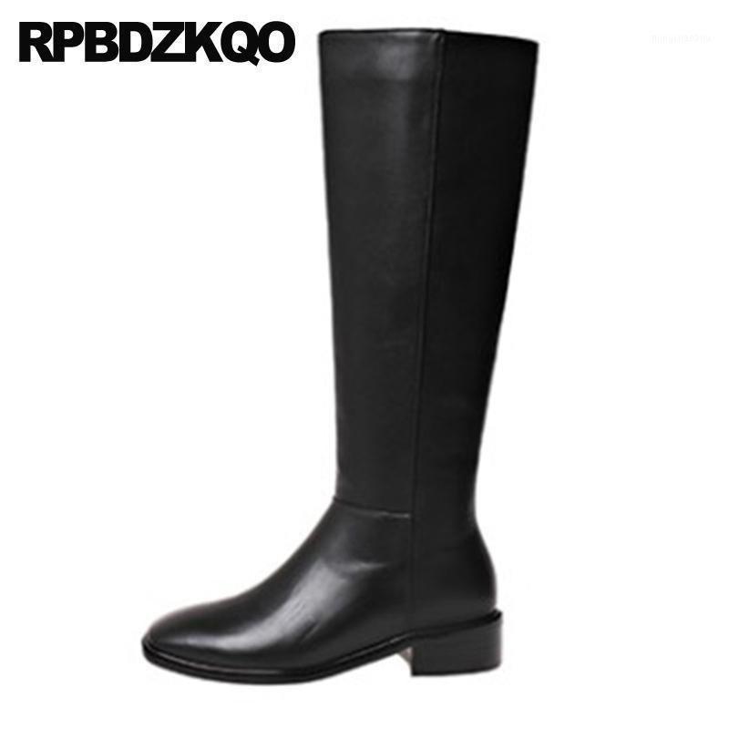 Boots Square Toe Crossdresser Обувь 10 Верховая езда Женщины Зима 2021 Высокий Коренастый Плюс Размер Конные Художники Черное Большое колено High1