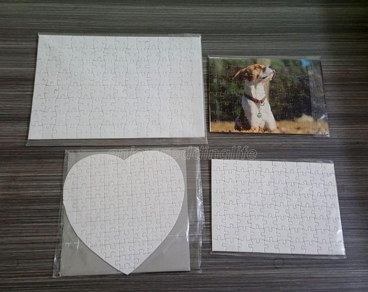 Süblimasyon DIY Boş Bulmacalar Beyaz Bulmaca Parti A4 Boyutu Aşk Kalp Jigsaw 80 adet Isı Baskı Transferi El Yapımı