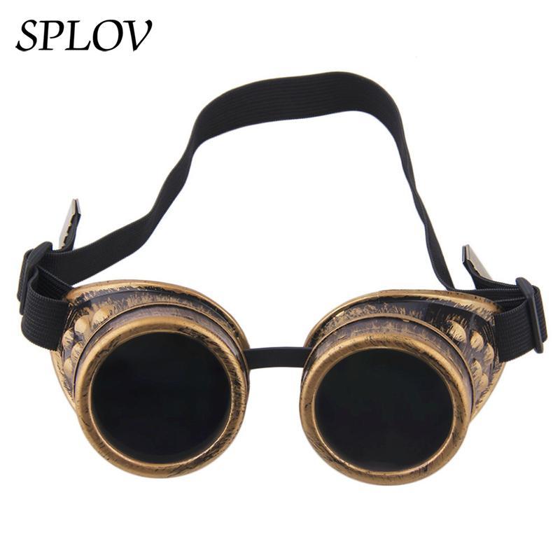 الرجعية steampunk المعادن لحام أزياء النساء الرجال جولة تعديل نظارات خمر النظارات الشمسية حزام سايبر شادات otiqe