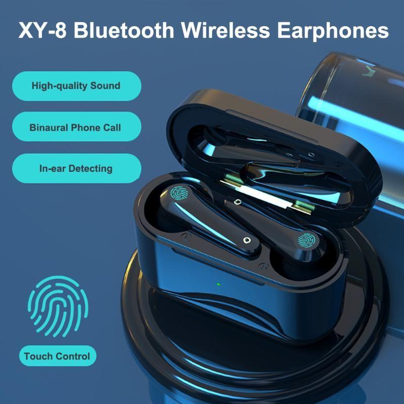 Sem fio Bluetooth Headphones fone de ouvido Esportes Headsets impermeável para 12 11 11Pro Max Touch Control música Earbuds