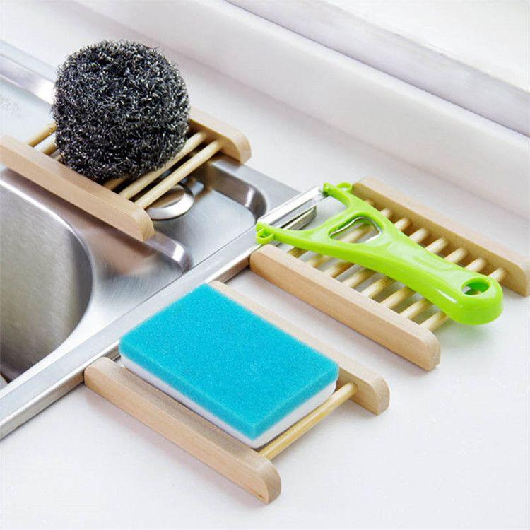 100 adet Doğal Bambu Tepsiler Toptan Ahşap Sabun Çanak Ahşap Sabun Tepsi Tutucu Raf Plaka Kutusu Konteyner Banyo Duş Banyo Için