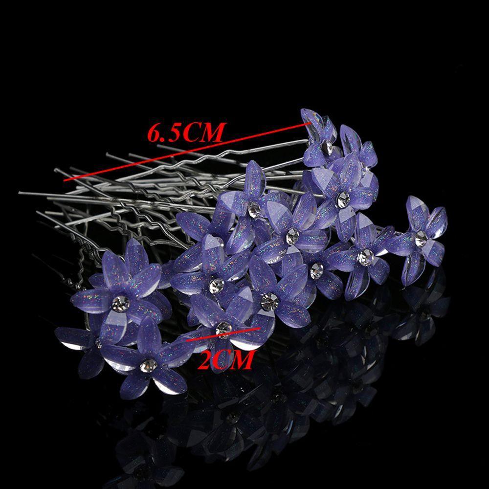 100 adet / takım Kadınlar Kristal Rhinestone Çiçek Saç Pins Klipler Düğün Gelin Tokalar Tokalar Saç Şekillendirici Aksesuarları Düğün Hediyesi 46 N2