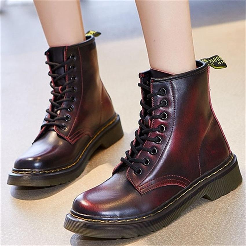2021 Moda Hakiki Deri Kadın Flats Çizmeler Kadın Kadın Tasarımcı Ayakkabı Zapatos Mujer Femmes X95H