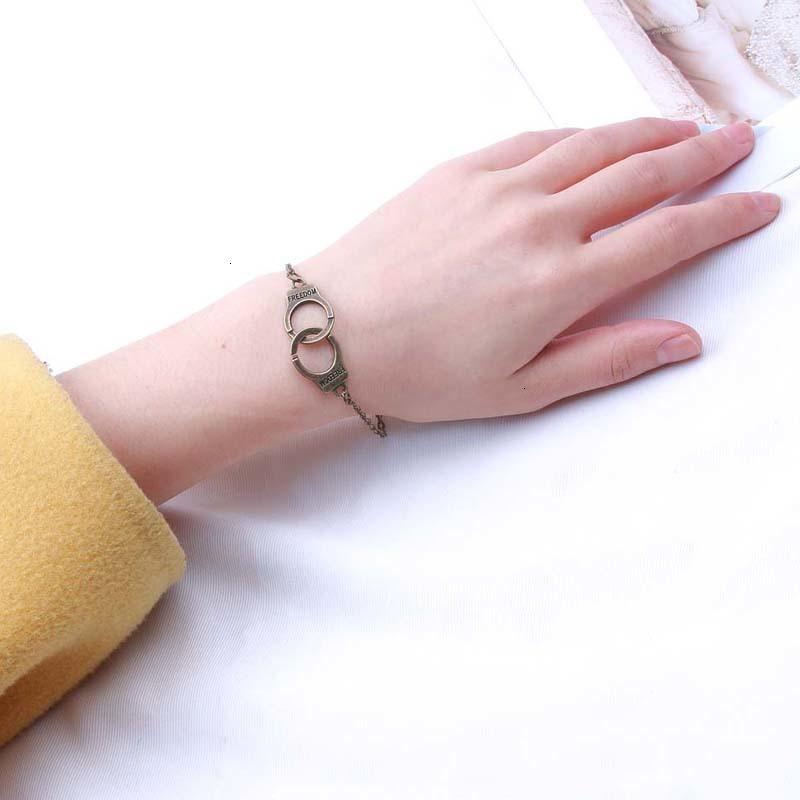 Заводская цена на старинные серебряные золотые цветные наручники браслеты мужчины женщины свобода буквы обаяние бремени браслетов браслетов