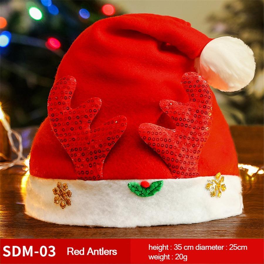 Acessórios Red Hat Natal LED Criança de Santa decorações do partido Feriado de Ano Novo fornece dois tipos de estilo GWE2305 # 510