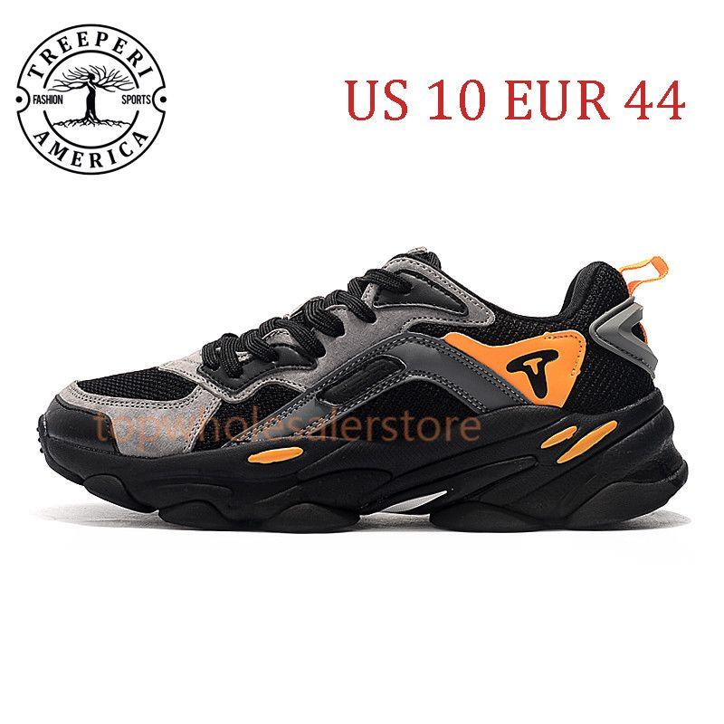 أفضل تريبيري الأزياء مكتنزة 700 لينة أحذية ركض وحيد أسود رمادي برتقالي الولايات المتحدة 10 يورو 44 للرجال المدربين