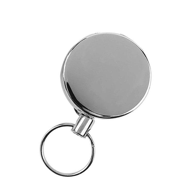 4cm métal ID délicat carte Badge Porte-bobine Recoil Clip ceinture chaîne durable Pull rétractable bobine PPF2268