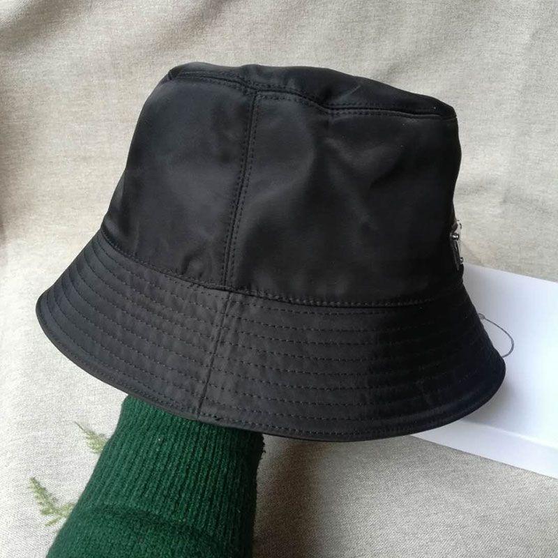 Classic Luxury Designer Black Casual Fisherman Hat Unisex High-Quality Oxford Fabric Bucket Hat