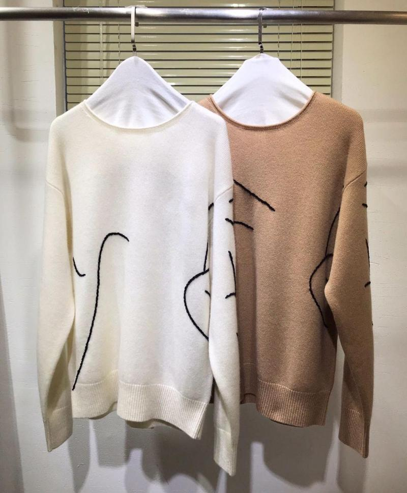 2020 Winter Runway Women Pullovers Sweaters Luxury Vintage Ladies Long Sleeves Cashmere Knitted Jumper Clothes