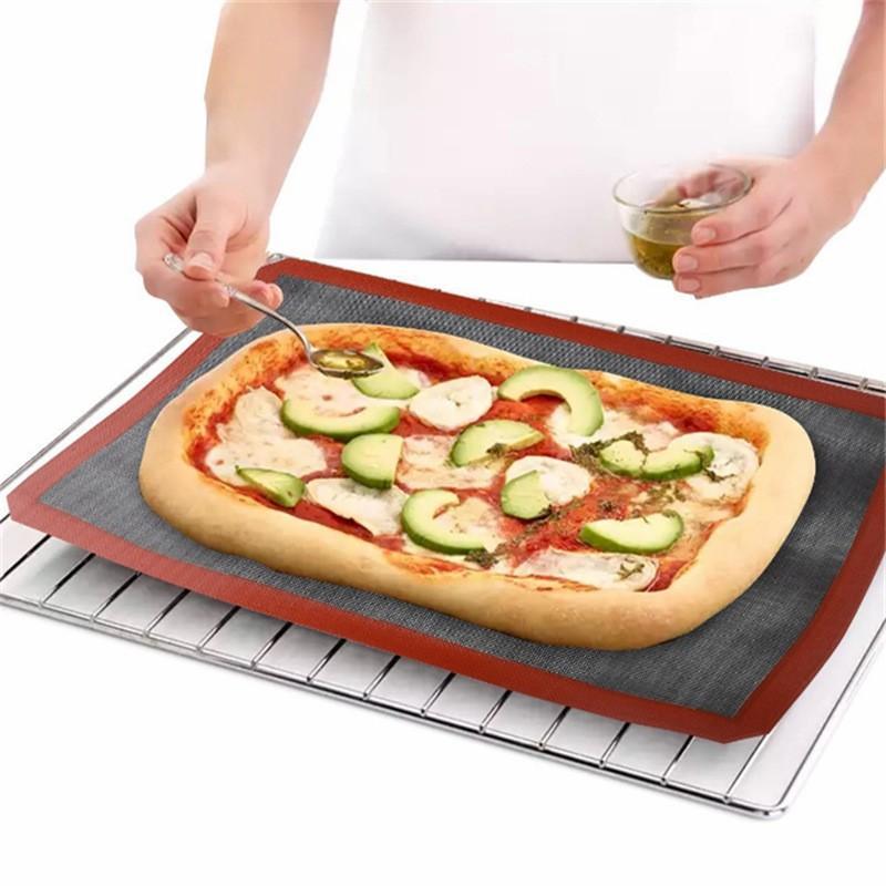الشواء فرن حصيرة ارتفاع درجة الحرارة مقاومة التهوية سيليكون وسادة شواء التخييم الخبز دائم وسادات مطبخ أداة جديدة 17RD2 F2