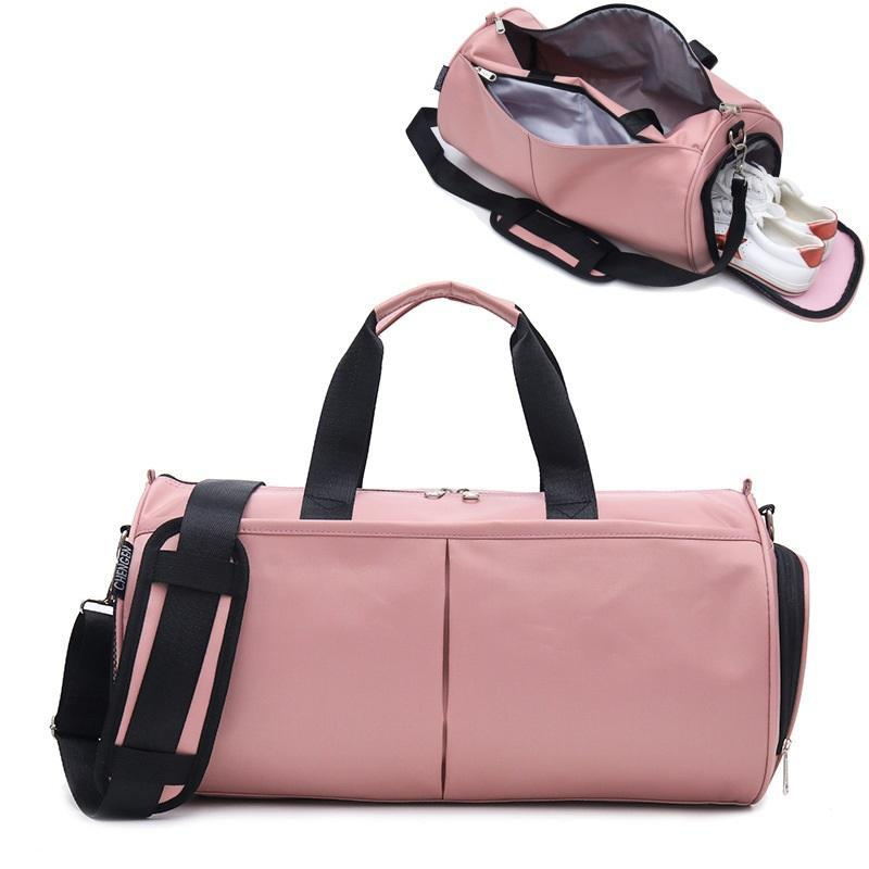야외 가방 Crocosport 여자 체육관 가방 요가 여성 피트니스 스포츠 블랙 배낭 휴대용 여행 훈련 신발 구획