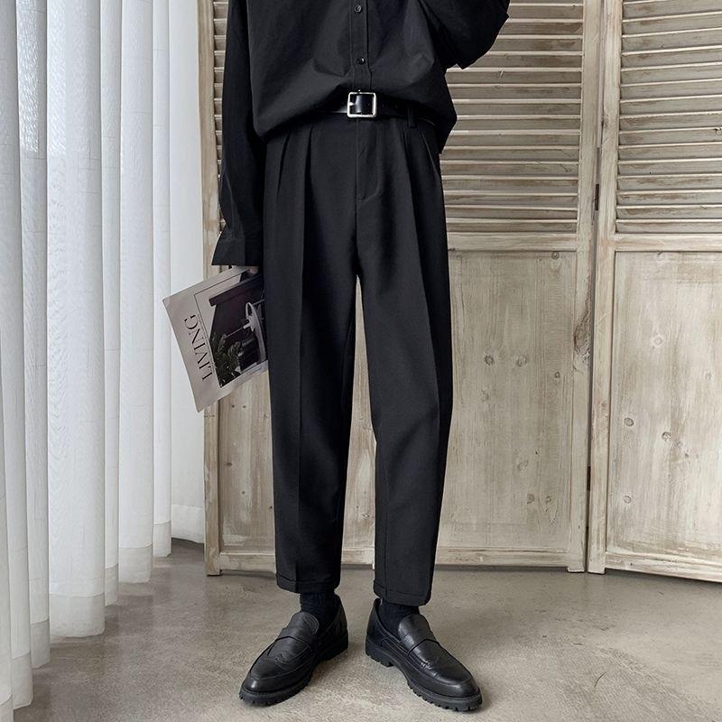 Erkek Batı tarzı Pantolon Erkek Gevşek Eğlence Rahat Pantolon Iş Tasarım Pamuk Takım Elbise Pantolon Örgün Pantolon Takım Elbise Boyutu M-2XL 201123