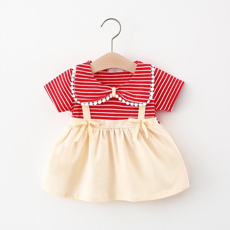 الفتاة فساتين 2021 الصيف الفتيات قصيرة الأكمام اللباس فتاة الأميرة