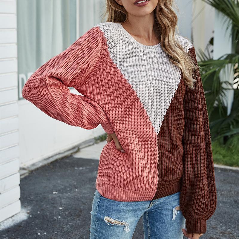 2020 Nuovo Oversize Pullover allentato batwing di autunno Maglia a manica Maglione Abbigliamento