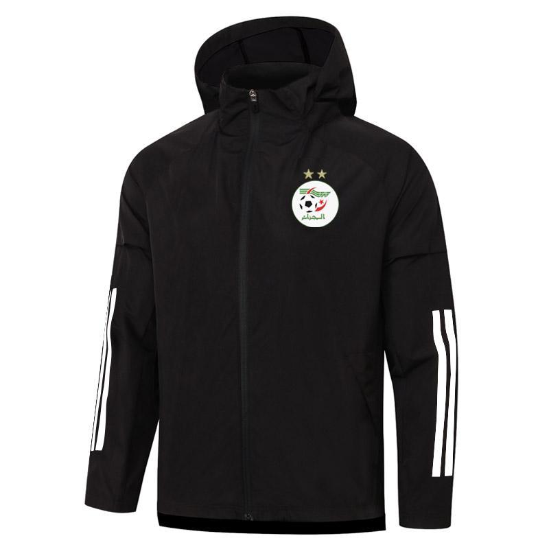 2020 2021 Giacca Algeria Cappuccio da calcio con cappuccio Sport Sport Felpe con cappuccio da calcio Allenamento da calcio Cappotto da jogging Jersey Giacche da corsa