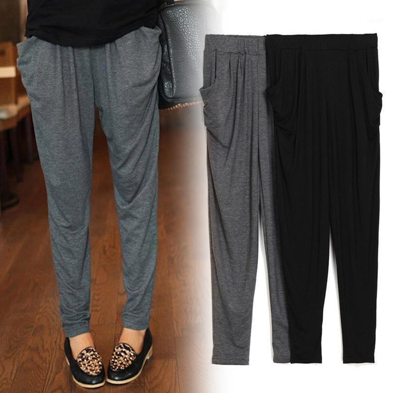Женские брюки Капризы Летняя Осень Мода Женщины Повседневная Большой Размер Свободный Модальный Harlan Thic1