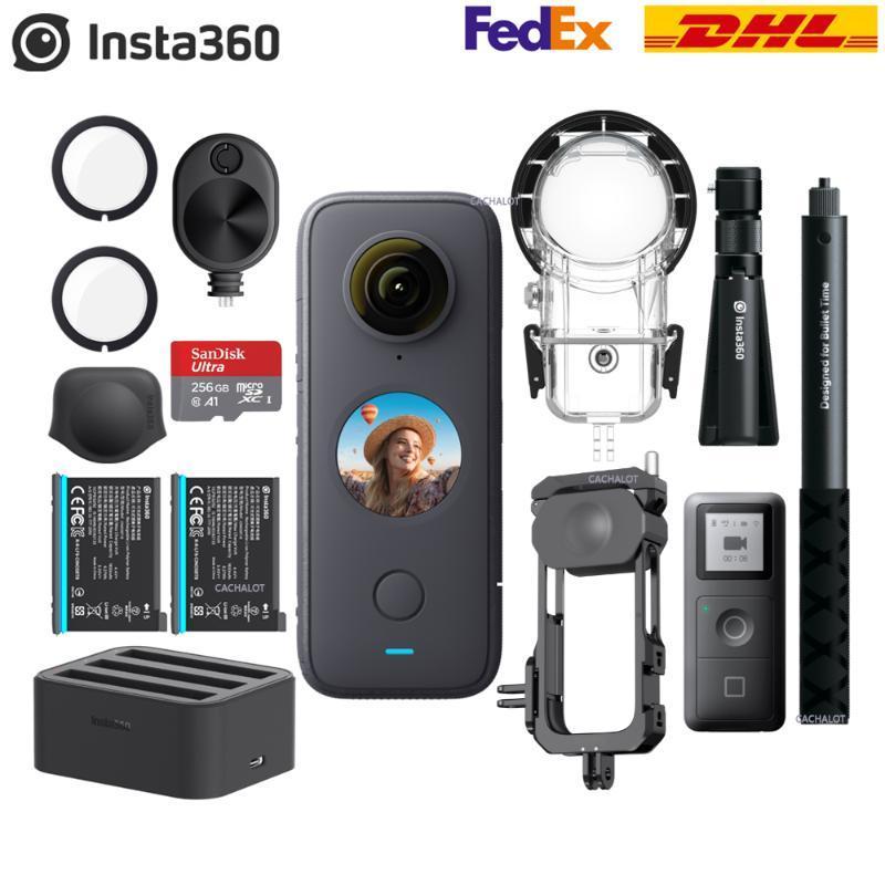 Insta360 uma câmera de ação x2 360 5,7k vídeo 10m impermeável insta 360 uma câmera de esporte panorâmico de bolso X2