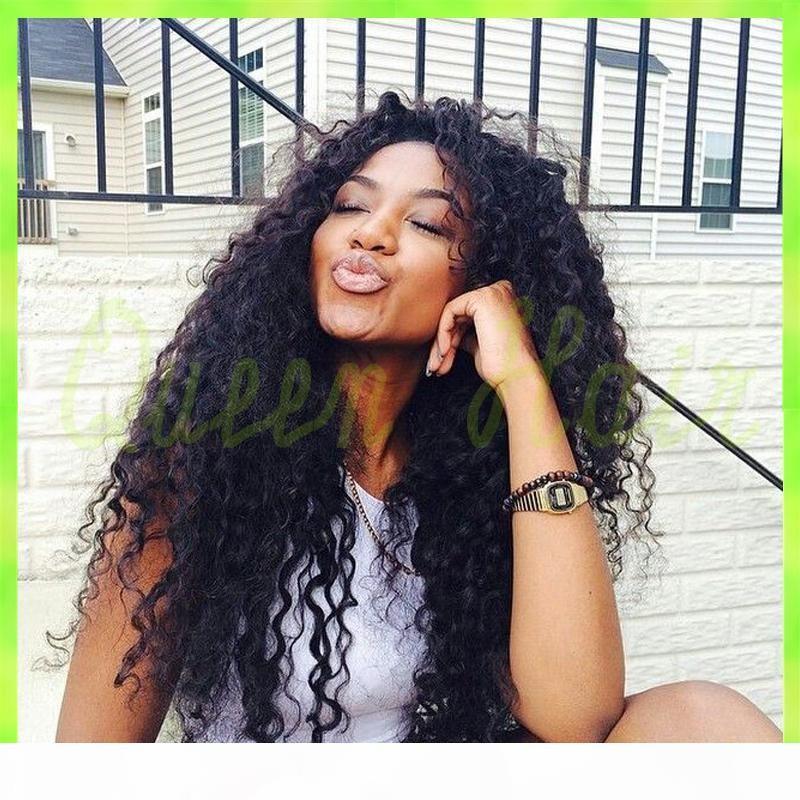 7a brasilianische Menschenhaarperücken lockige für schwarze Frauen brasilianischer Haar menschlichen lockige volle Spitzeperücken mit dem Babyhaar DHL geben Schiff frei