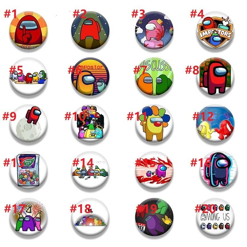 20 Styles Hot Game Among Us Badge For Backpack DIY Cartoon Icon Lapel Pins Brooch For Women Men Bag Badge Christmas Gift air11