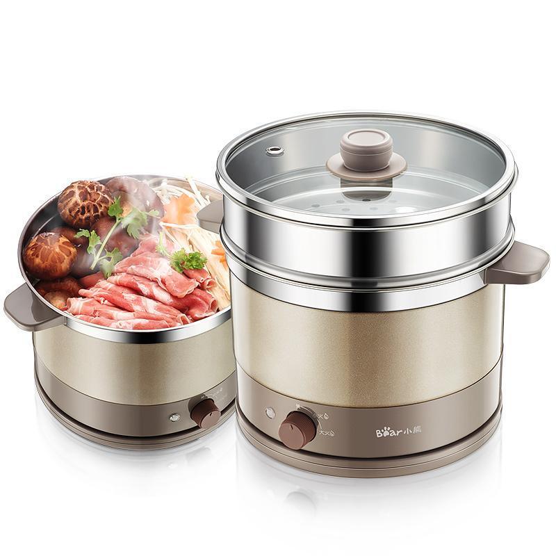 Urso multifuncional frigideira elétrica mini dormitório quente pote cozinhar fogão DRG-C18A1