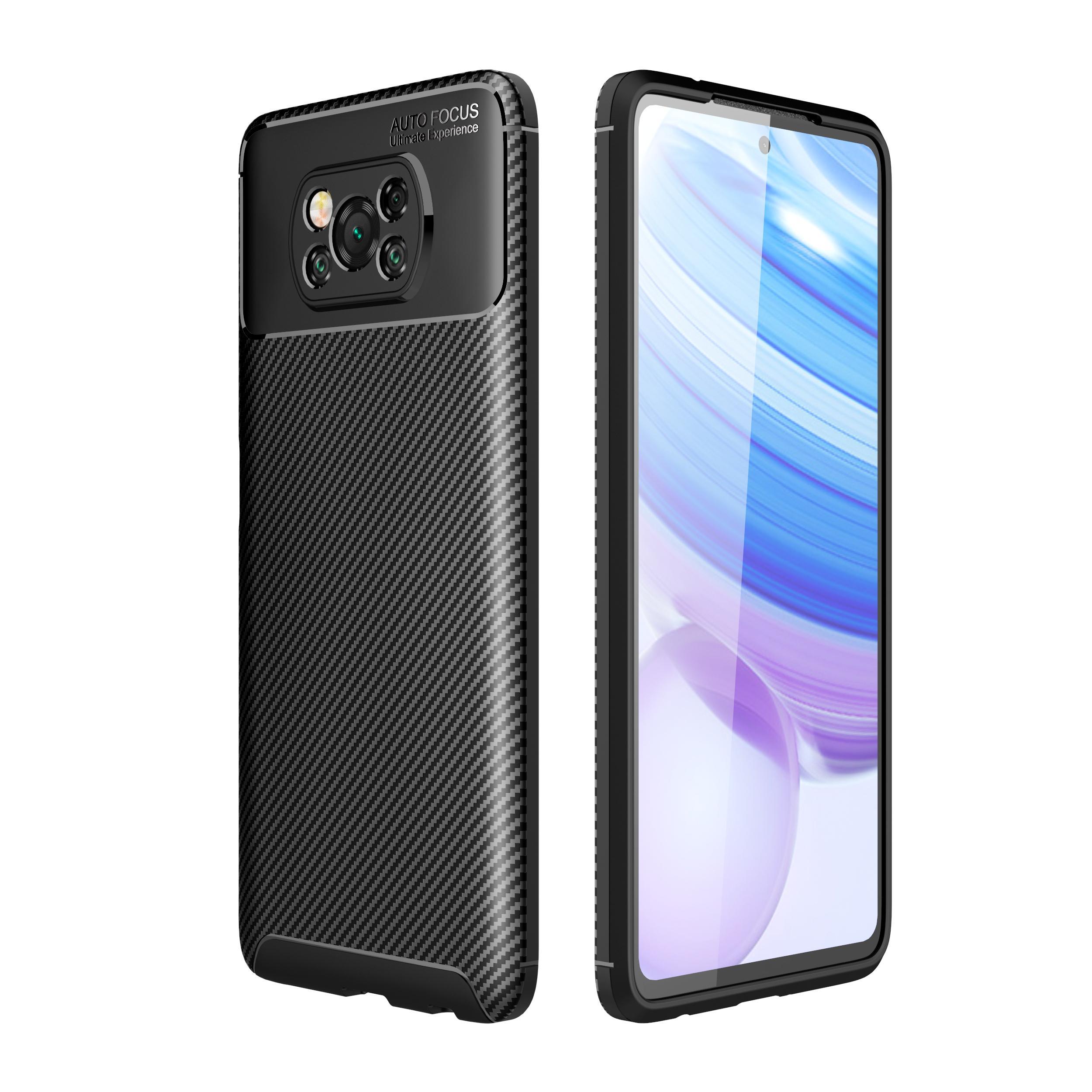 Тонкий углеродного волокна дизайн ТПУ Мягкий чехол для Xiaomi Poco X3 NFC Mi 10 Ультра редми 9А 10X Примечание 9S Примечание 9 Pro