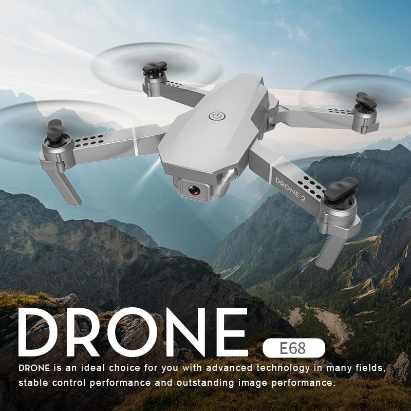 NEUE E68 DRONE HD Weitwinkel 4k Wifi 1080P FPV-Drohnen Video Live-Aufnahme Quadcopter Höhe zur Aufrechterhaltung der Drohnenkamera Nizza Toys 201221