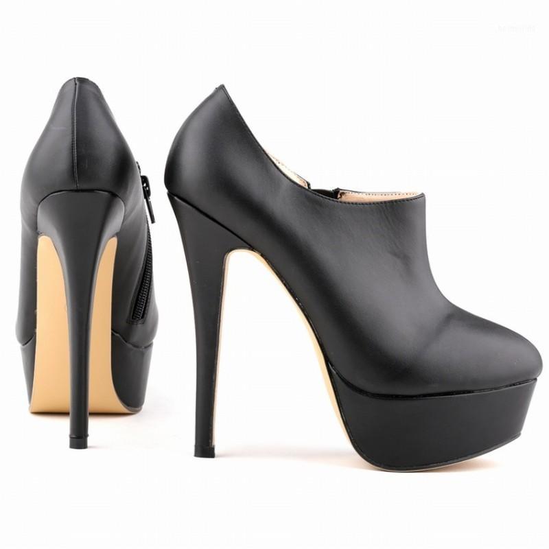 Inverno Nuova punta appuntita alta tacco sottile piattaforma pompa con zip laterale in vernice zip scarpe da sposa da donna calzature tenis feminino1