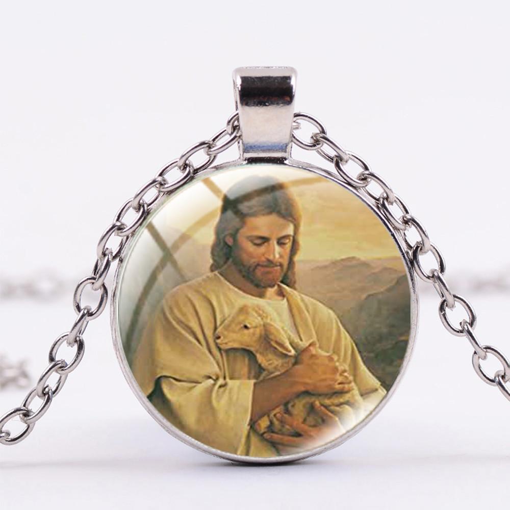 New Relief Society Mormonentum hängende Halskette der FHV Symbol Schmuck Halskette Runde Glascabochon Mormon Jeweley