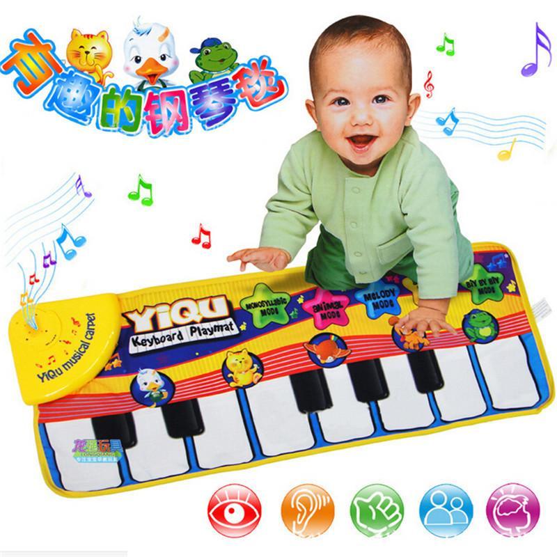 Детская музыка ковер электронный ребенок музыкальный коврик образовательный дети детский фортепиано музыкальный сканирование образовательные игрушки мат игрушка подарок 72 * 29см LJ201114