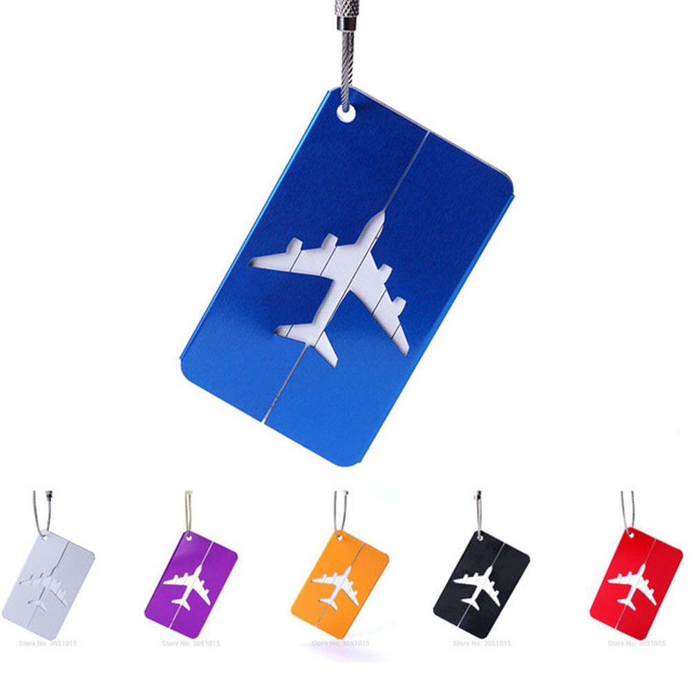 سبائك الألومنيوم الأمتعة علامات الأمتعة اسم العلامات حقيبة حقيبة تسمية حامل حقائب السفر أكياس الطيران الملحقات LJ201109