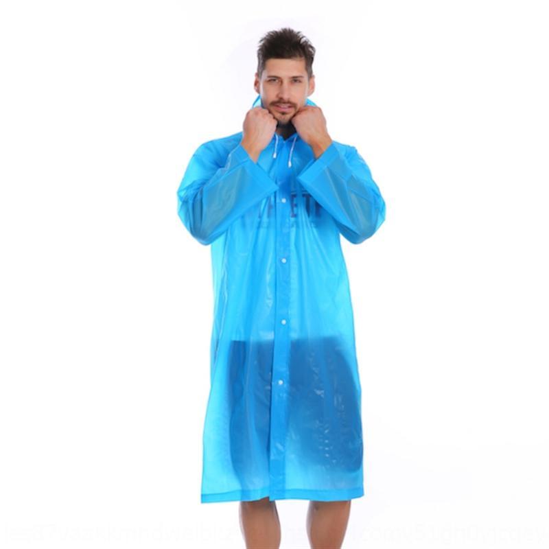 Взрослый мужской O63HG одно- и плащ плащ пешком путешествие плащ прозрачный водонепроницаемый матовый костюм открытый женский длинный пончо CWASC