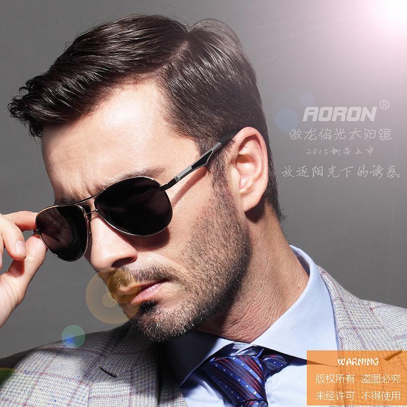 Luxus klassische männliche männchen retro fahrqualität polarisierte aluminium übergroße sonnenbrille hohe sonnenbrille xuwwt