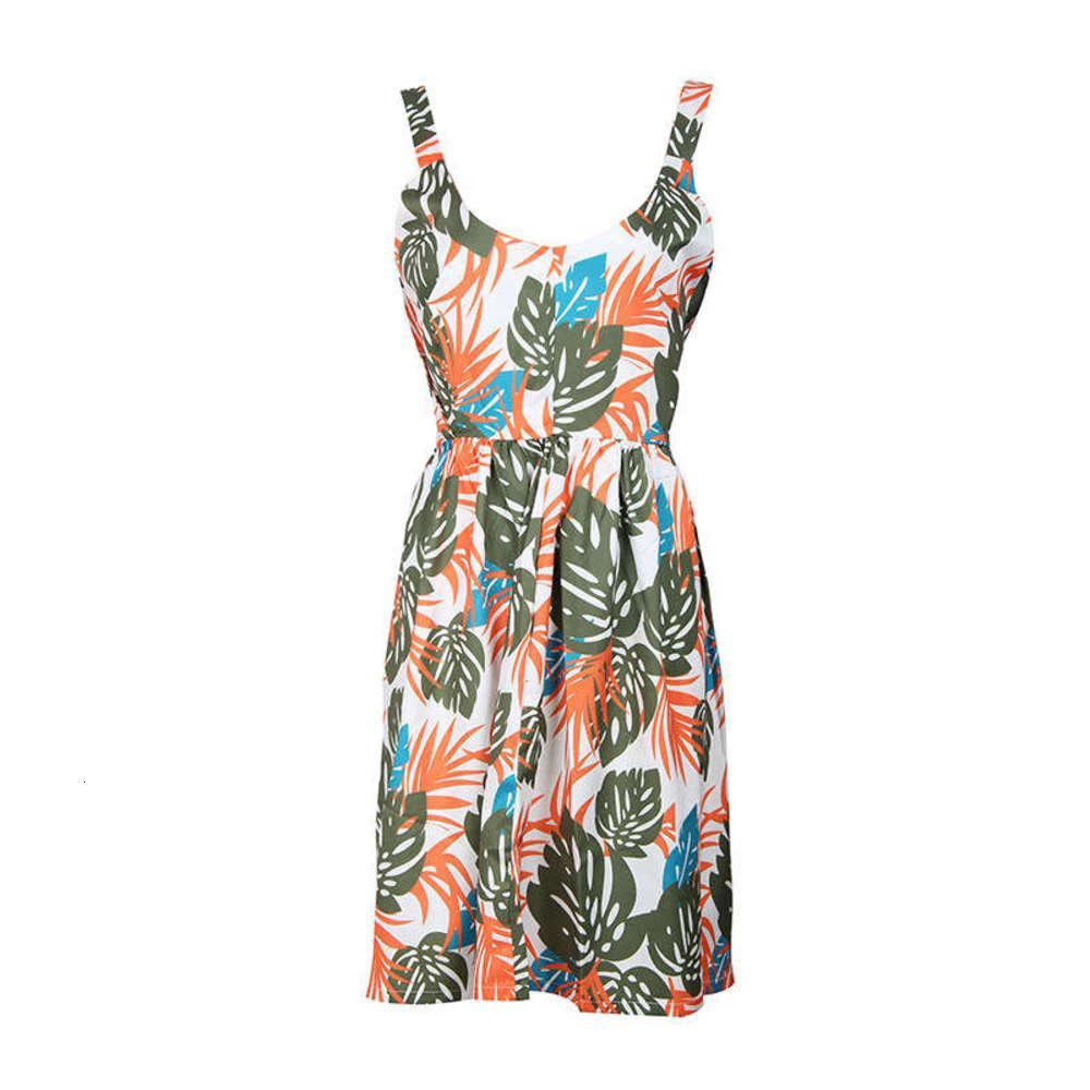 Imprimer Summer Sweet 2020 Dentelle Nouveau Strap de mode Bohemian Style Fake Robe JR1907