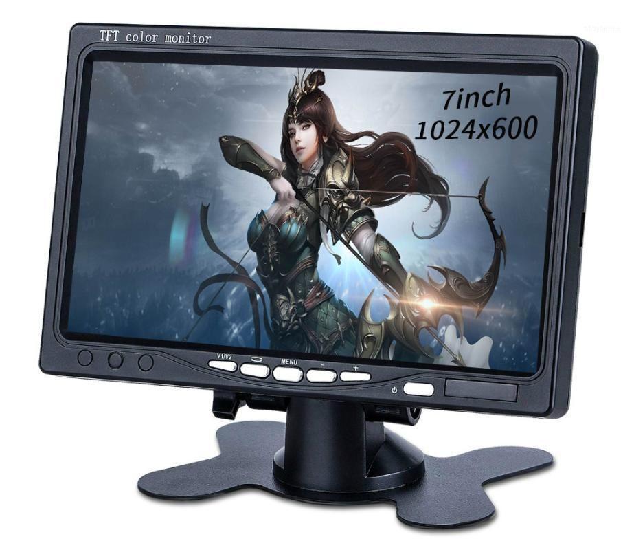 Мониторы Johnwill 7 '' TFT LCD RECING CAMERA Camera Monitor для автомобильного заднего вида Камеры DVD Повышение с 2 видеовходом AV входы DC1