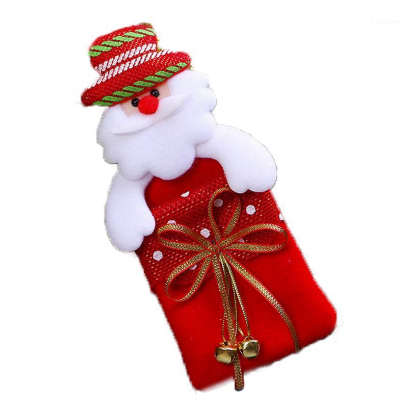 Рождественская елка кулон подарка сумка висит орнамент с колокольчиком рождественские домашние вечеринки украшения Санта-Клауса Санта-Клаус1