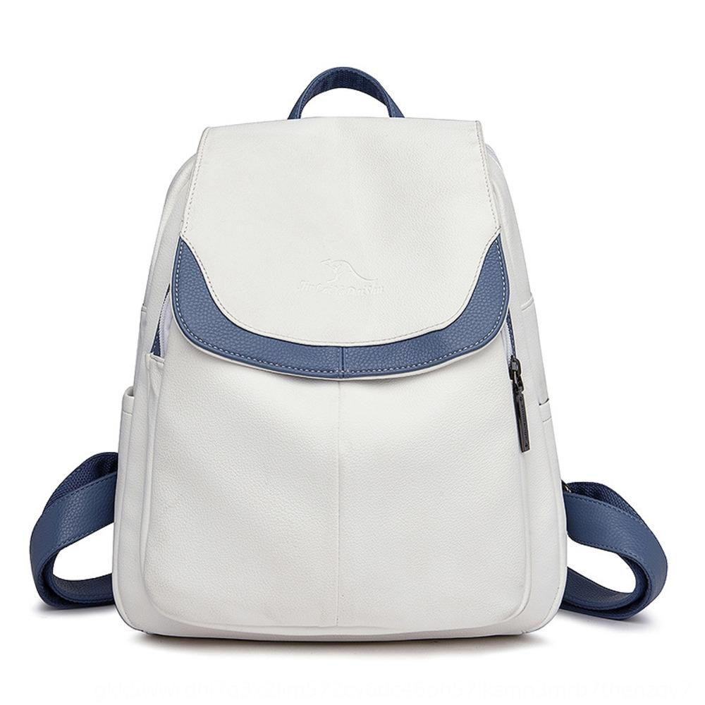 Women's backpack 2020 new Pu Korean version Bag backpackbackpack casual fashion versatile soft leather bag travel small backpackstyle school