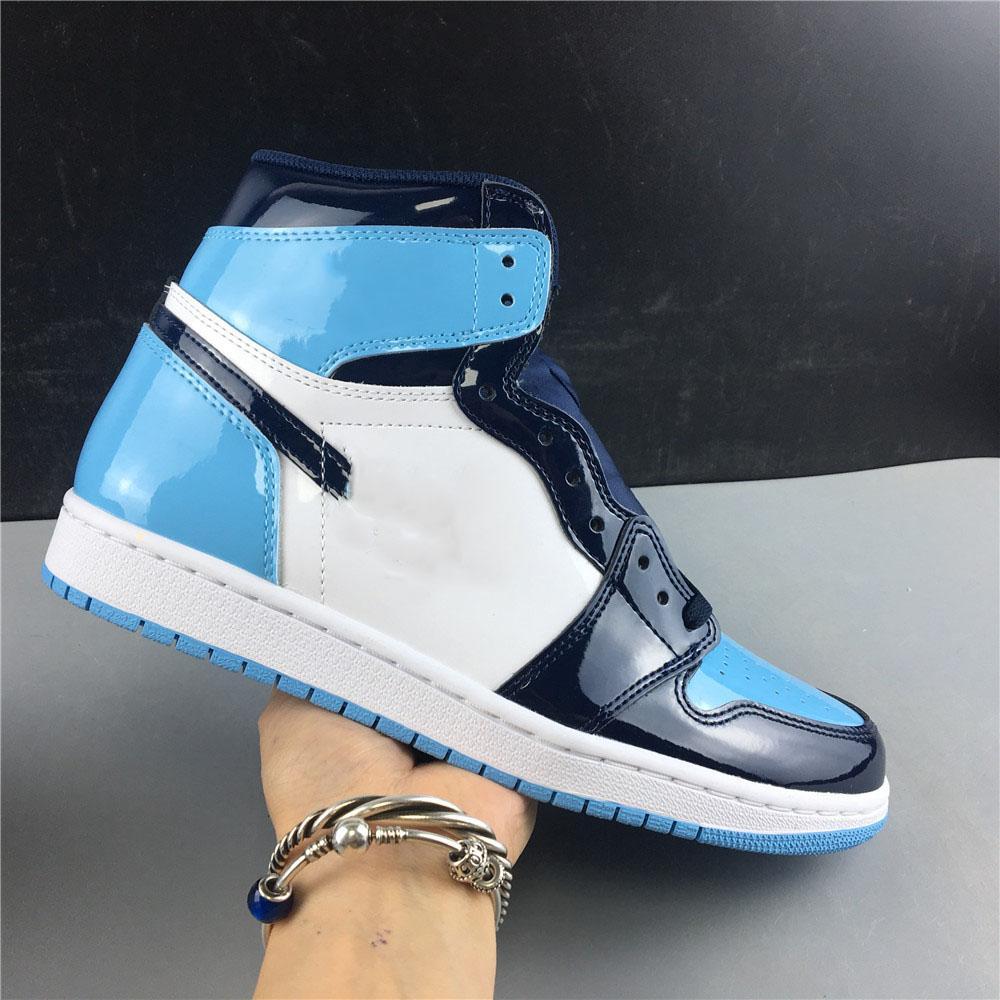 2020 Самое лучшее качество 1S Obsidian Северная Каролина баскетбольной обуви обсидиана обувь цвета работает на открытом воздухе кроссовки размер 40-46