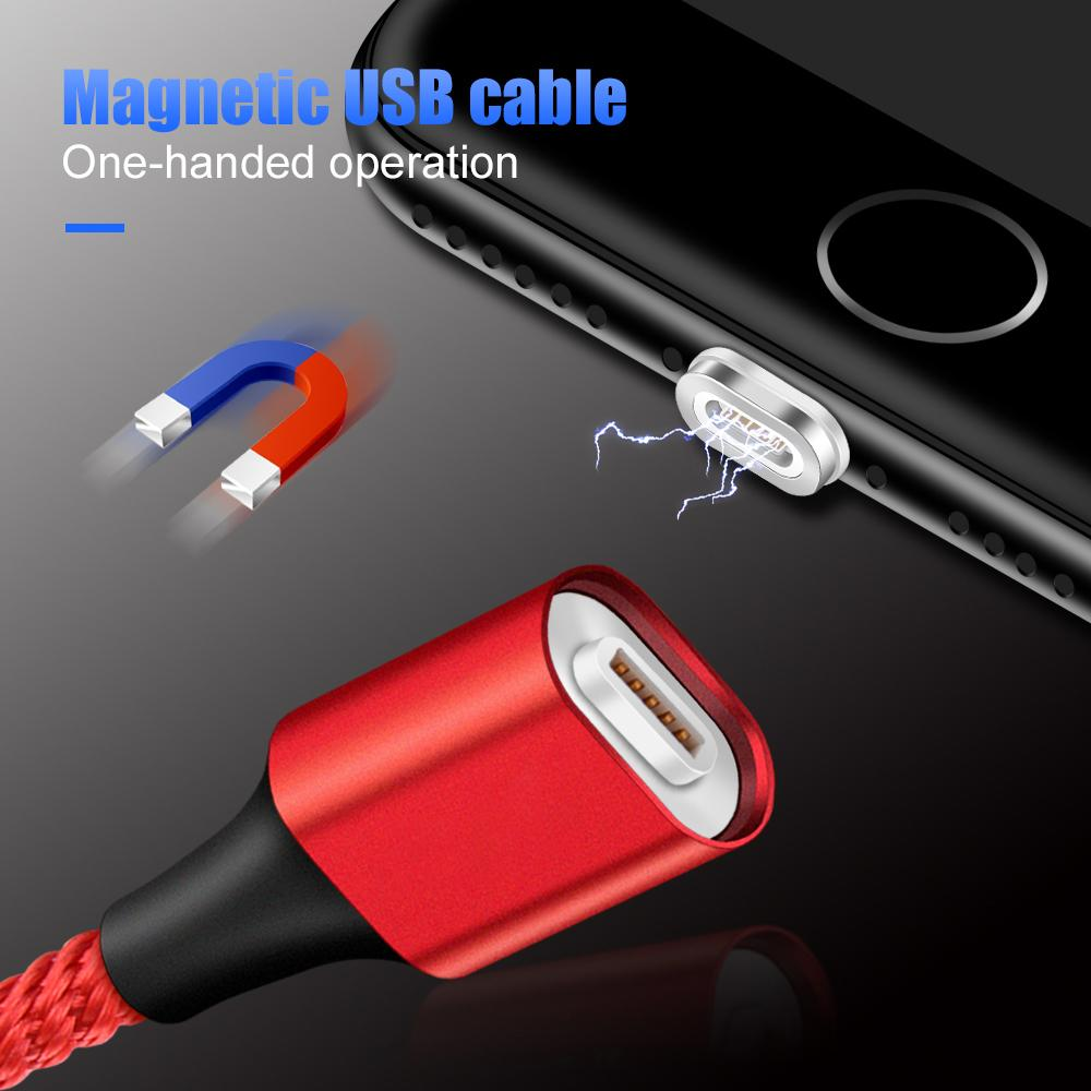MOSIRUI for meizu 16th plus Strong suction magnet mobile phone data cable 3A fast charging 1m chargin Type C