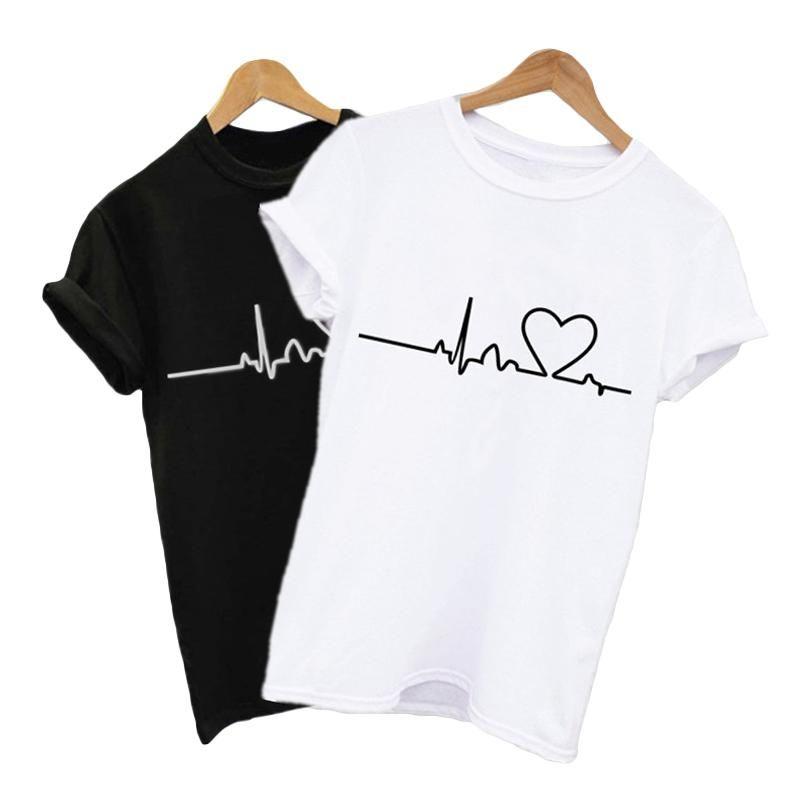 Couple femmes T-shirts T-shirt surdimensionné vêtements d'été coréenne Femmes Mode Casual manches courtes T-shirt Tops femme T-shirt