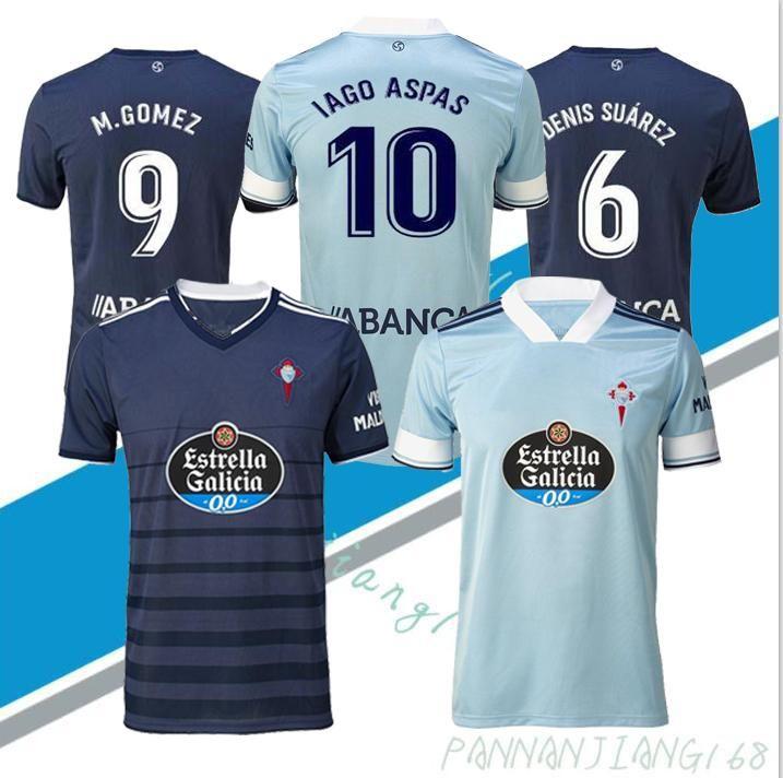 NCAA NOUVEAU 20 21 RC Celta de Vigo Soccer Jersey Lobotka Iago Aspas Santl Mina Sisto Boufal Espagne 2020 21 Celta Vigo Man Shirt de football