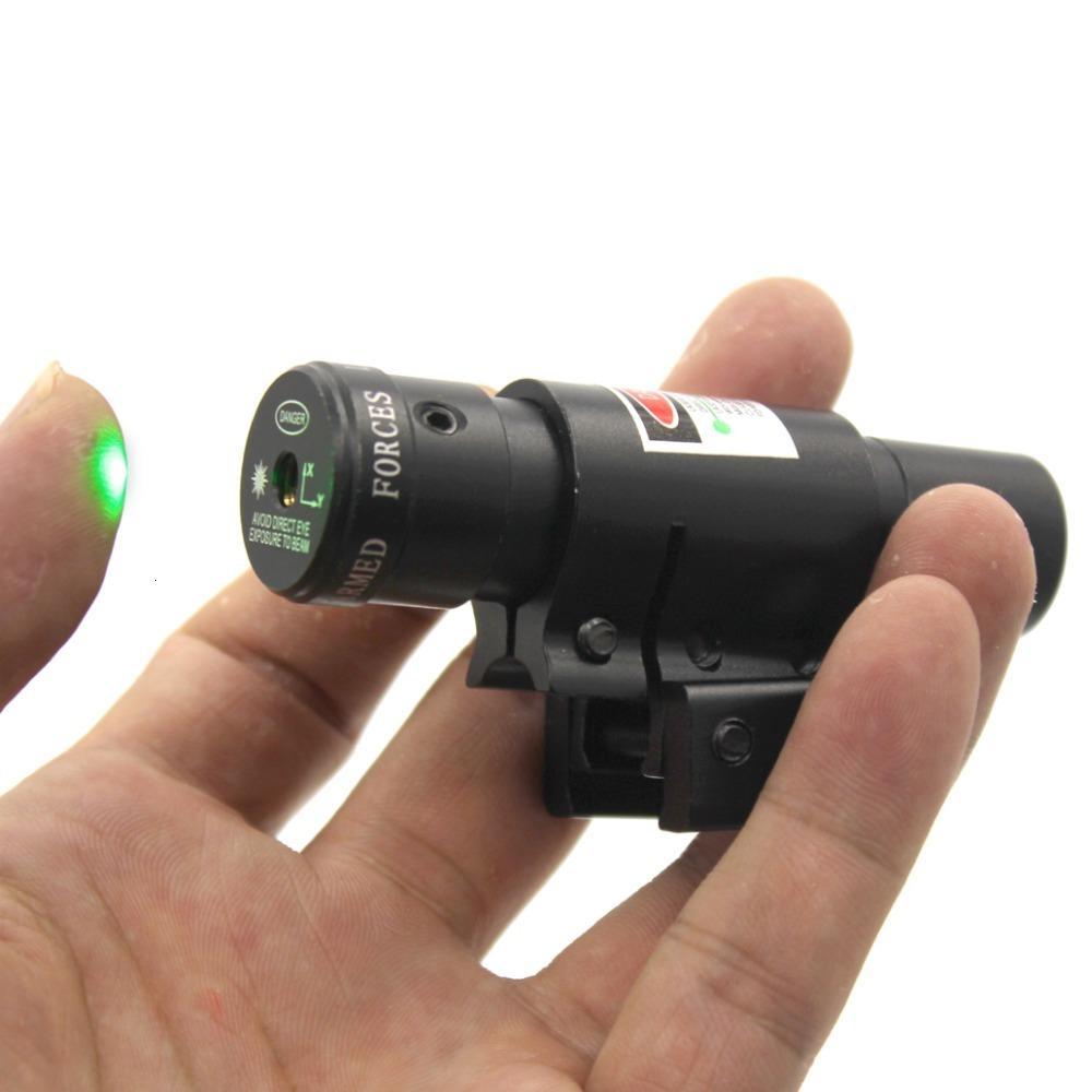 Green Dot Tactical G17 G19 Laser Sehenswürdigkeit Niedrig Profile Scope Fit 20mm Weaver Rail Mount Für Pistolengewehrgewehren Airsoft-Tactical Hunti
