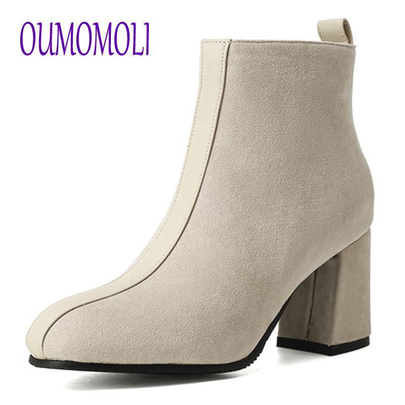 Mulheres Suede couro botas de salto alto Senhoras calçados casuais Outono Inverno qualiy Botas rodada Toe botines mujer V322
