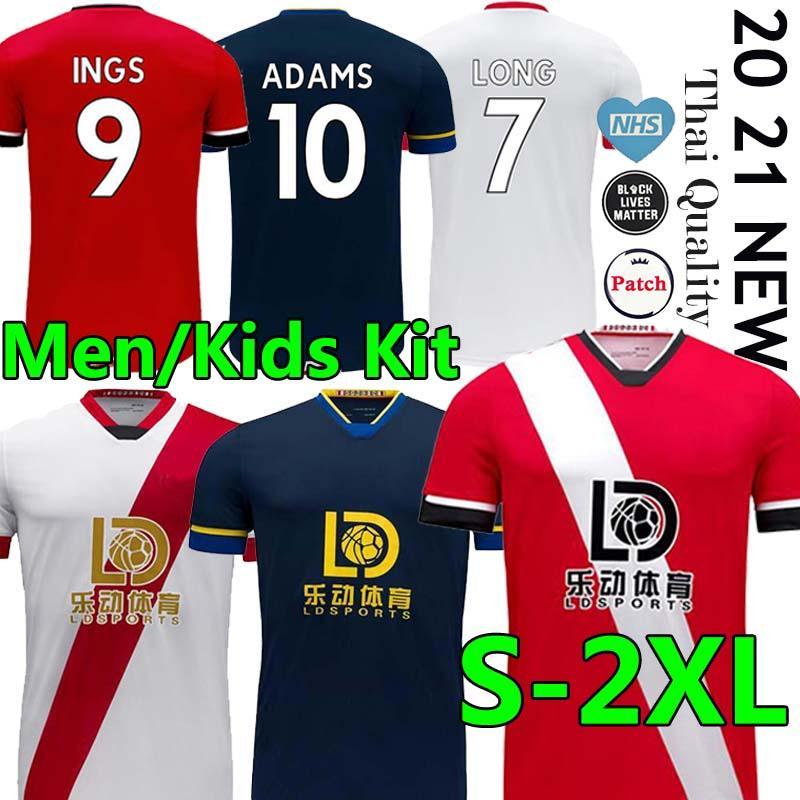 القديسين 2020 2021 داني إنغس كرة القدم جيرسي WARD-براوز HOJBJERG ARMSTRONG كرة القدم قميص طويل ADAMS قمصان الرجال قميص الاطفال REDMOND الزي الرسمي