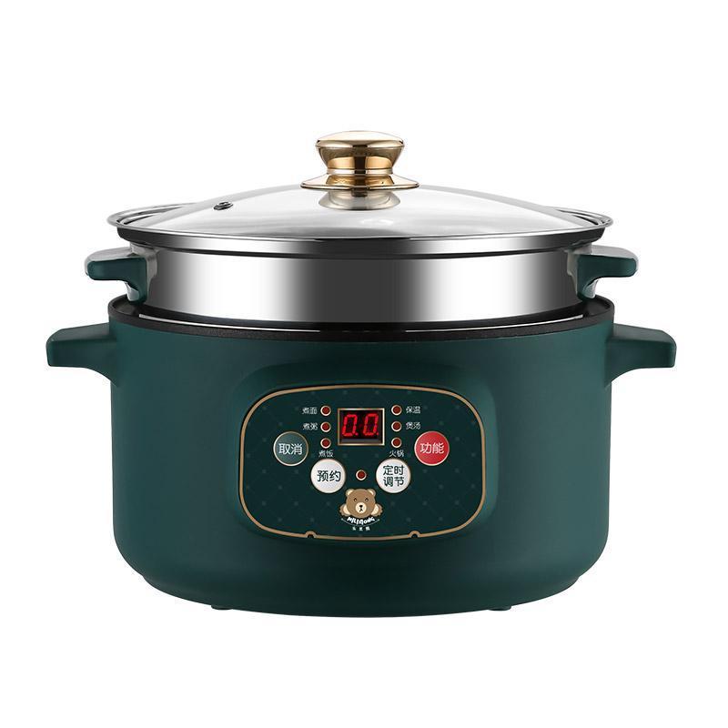 220V المنزلية الكهربائية القلي وعاء غير عصا الداخلية متعددة الطباخ المحمولة آلة الطبخ عملية سهلة