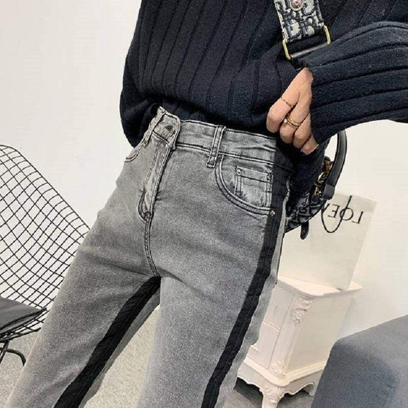 Automne et hiver Femmes Jeans NY Denim Pants 2020 Femme Sexy Slim Casual Taille High Taille Elastic Demin Demin Crayon