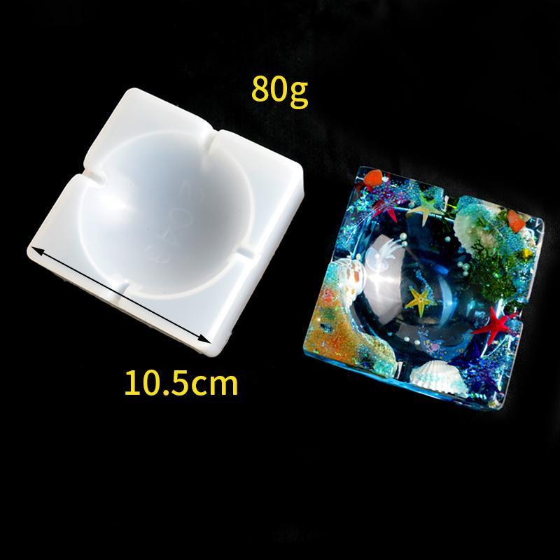 Aschenbecher Coaster Flexible Silikon-Form-Epoxidharz-Lehmputze Mold DIY Zubehör für Schmuck Craft Q1106